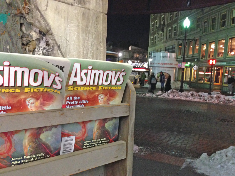 The March Issue of Asimovs in Harvard Square