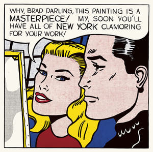 Here's a Lichtenstein which proves I went to art school and which is tangentially related to my post.